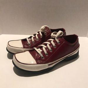 Lolita Lempicka Shoes - Lolita Lempicka Red Leather Lace-up Sneaker 9